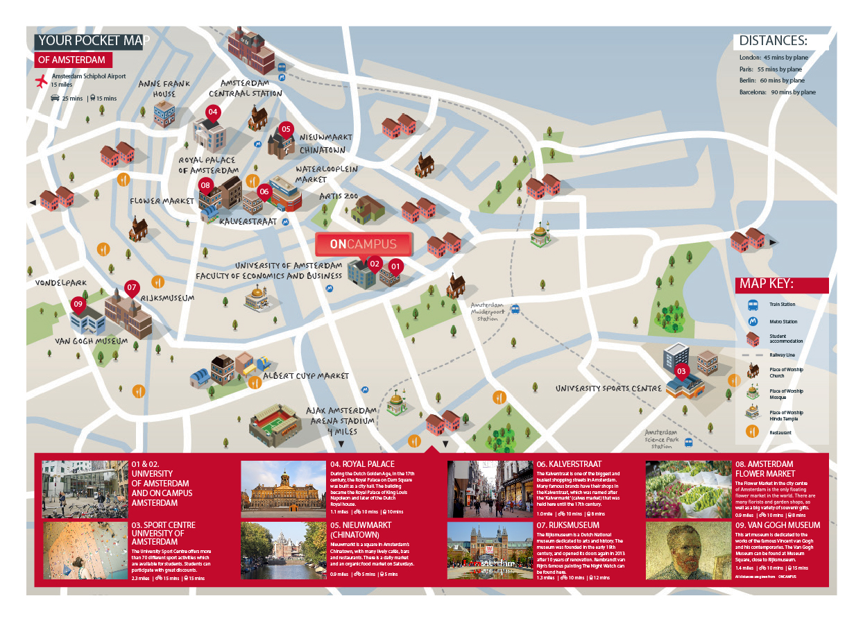University of Amsterdam The Netherlands – Amsterdam Tourist Map Pdf